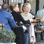 Sharon Stone and Melanie Griffith having lunch  33945