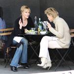 Sharon Stone and Melanie Griffith having lunch  33948