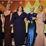 Tina Fey, Martha Plimpton, Melissa McCarthy, Amy Poehler, Edie Falco, and Laura Linney at Emmy Awards 2011 94642