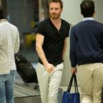 Michael Fassbender arrives at JFK airport in NYC 116883