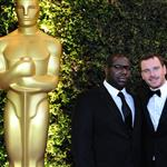 Steve McQueen and Michael Fassbender at the 3rd Annual Governors Awards in Hollywood 98686