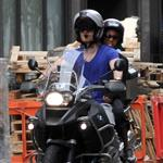 Michael Fassbender rides his motorcycle with Nicole Beharie in London 124445