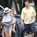 Michelle Williams and Matilda Ledger take in the sites of New York harbor with Jason Segel in New York City 120557