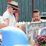 Michelle Williams and Matilda Ledger take in the sites of New York harbor with Jason Segel in New York City 120559