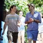 Zachary Quinto and Jonathan Groff walk around New York City 118529