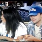 Mila Kunis and Ashton Kutcher double date with her parents at the Dodgers  124191