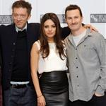 Mila Kunis with Vincent Cassel and Darren Aronofsky at London Film Festival 71453