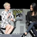 Michelle Williams and Mila Kunis at Comic-Con 2012 for Oz: The Great and Powerful 120509
