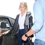 Miley Cyrus seen with her engagement ring at LAX 116859