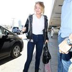 Miley Cyrus seen with her engagement ring at LAX 116861