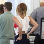 Miley Cyrus seen with her engagement ring at LAX 116868