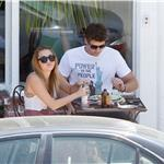 Miley Cyrus and Liam Hemsworth have a romantic lunch in Toluca Lake 91584