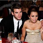 Miley at the Elton John party with her boyfriend Liam Hemsworth 56340