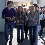 Miley Cyrus and Billy Ray Cyrus out with her boyfriend Justin Gaston to church 30047