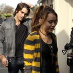 Miley Cyrus and Billy Ray Cyrus out with her boyfriend Justin Gaston to lunch 30040