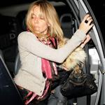 Sienna Miller late night with Cillian Murphy at Groucho Club 30766