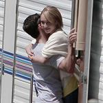 Milo Ventimiglia Hayden Panettiere head into her trailer  21179