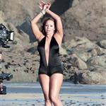 Mariah Carey shoots a video at the beach 50025