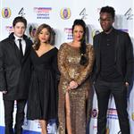 Iwan Rheon, Antonia Thomas, Lauren Socha and Nathan Stewart-Jarrett at the British Comedy Awards  101299