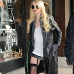 Taylor Momsen in garters in New York 52142