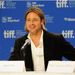 TIFF Photos: Brad Pitt at Moneyball press conference. Photos from Jason Merritt/Gettyimages.com   93757