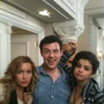 Cory Monteith with Selena Gomez and Leighton Meester in Paris for Monte Carlo 63883