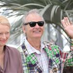 Tilda Swinton and Bill Murray at the Moonrise Kingdom photocall  during the 65th Cannes Film Festival  114660