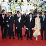 Bob Balaban, Jason Schwartzman, Kara Hayward, Wes Anderson, Tilda Swinton, Bruce Willis, Edward Norton and Bill Murray at the Moonrise Kingdom premiere during the Opening ceremony of the 65th Cannes Film Festival  114745