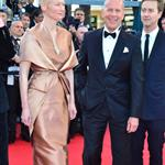 Bruce Willis, Tilda Swinton, Edward Norton at the Moonrise Kingdom premiere at the Opening Ceremony of the 65th annual Cannes Film Festival 114749