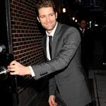 Matthew Morrison arrives at Letterman  79817
