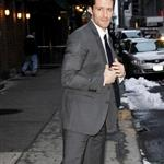 Matthew Morrison arrives at Letterman  79818