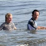 Anna Paquin and Stephen Moyer on Memorial Day weekend in the Pacific Ocean with his kids  62420