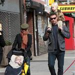 Naomi Watts and Liev Schreiber with their kids in New York 50687