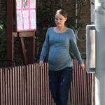Natalie Portman shows big baby belly in LA 78303