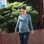 Natalie Portman shows big baby belly in LA 78304