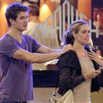 Nathan Adrian and Natalie Coughlin outside after having dinner at Ranoush in London 122653