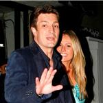 Nathan Fillion and girlfriend who looks like Miley Cyrus's mother leave dinner  75152