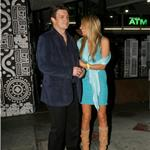 Nathan Fillion and girlfriend who looks like Miley Cyrus's mother leave dinner  75154
