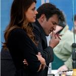 Nathan Fillion and Stana Katic on the set of Castle January 2011  77512