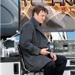 Nathan Fillion on the set of Castle January 2011  77513