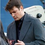 Nathan Fillion on the set of Castle January 2011  77516