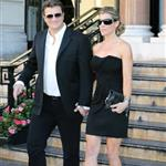 Nathan Fillion and fiancé Kate Luyben outside the Hotel de Paris 52nd  117493