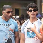 Nelly and Joe Jonas promote their show 'The Next' at The Grove on Extra  123626
