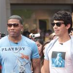 Nelly and Joe Jonas promote their show 'The Next' at The Grove on Extra  123627