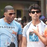 Nelly and Joe Jonas promote their show 'The Next' at The Grove on Extra  123631