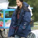 Taylor Lautner shooting parking lot scene for New Moon 36486