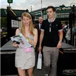 Nicolas Hoult at Wimbledon with mystery brunette  63792