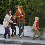 Nicole Kidman and her children Isabella and Connor Cruise go for dinner with friends, September 2001 114100
