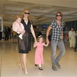 Nicole Kidman and Keith Urban with their daughters at the Sydney airport  107726