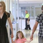 Nicole Kidman and Keith Urban with their daughters at the Sydney airport  107731